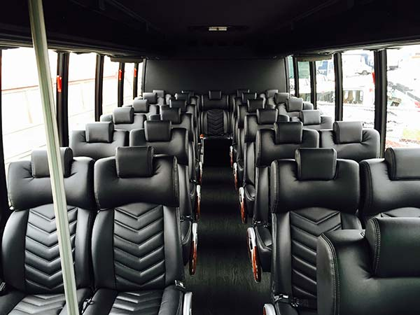 27 Passenger Luxury Mini Coach interior