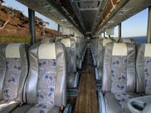 55 Passenger Luxury MotorCoach interior