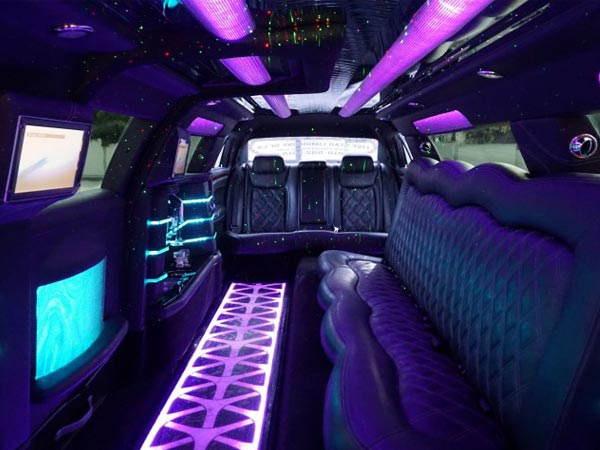 12 passenger Chrysler 300 Gullwing Limo interior