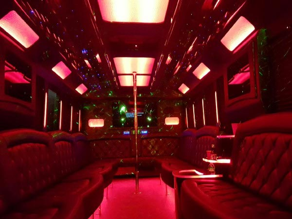 32 passenger Party Bus interior
